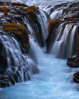 Bruarfoss, intimate, waterfall, southern iceland, iceland, cascades, blue