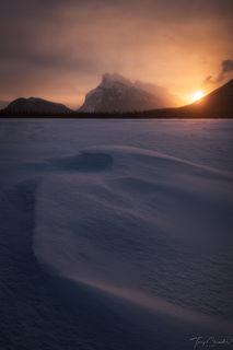 Mt. Rundle, Vermillion Lakes, Banff National Park, Alberta, Canada