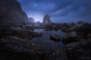 dark, mysterious, northern coast, spain, asturias