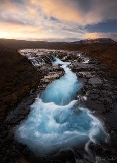 Iceland, Southern Iceland, fall, bruarfoss, waterfall