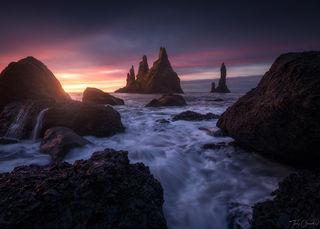 Reynisfjara, Reynisfjara, Iceland, Seascape, Seastacks, Atlantic, Southern Iceland