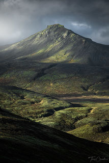 Iceland, green, mountain, western iceland