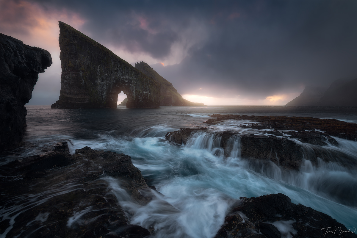 dranganir, seastack, vagar, faroe islands, photo