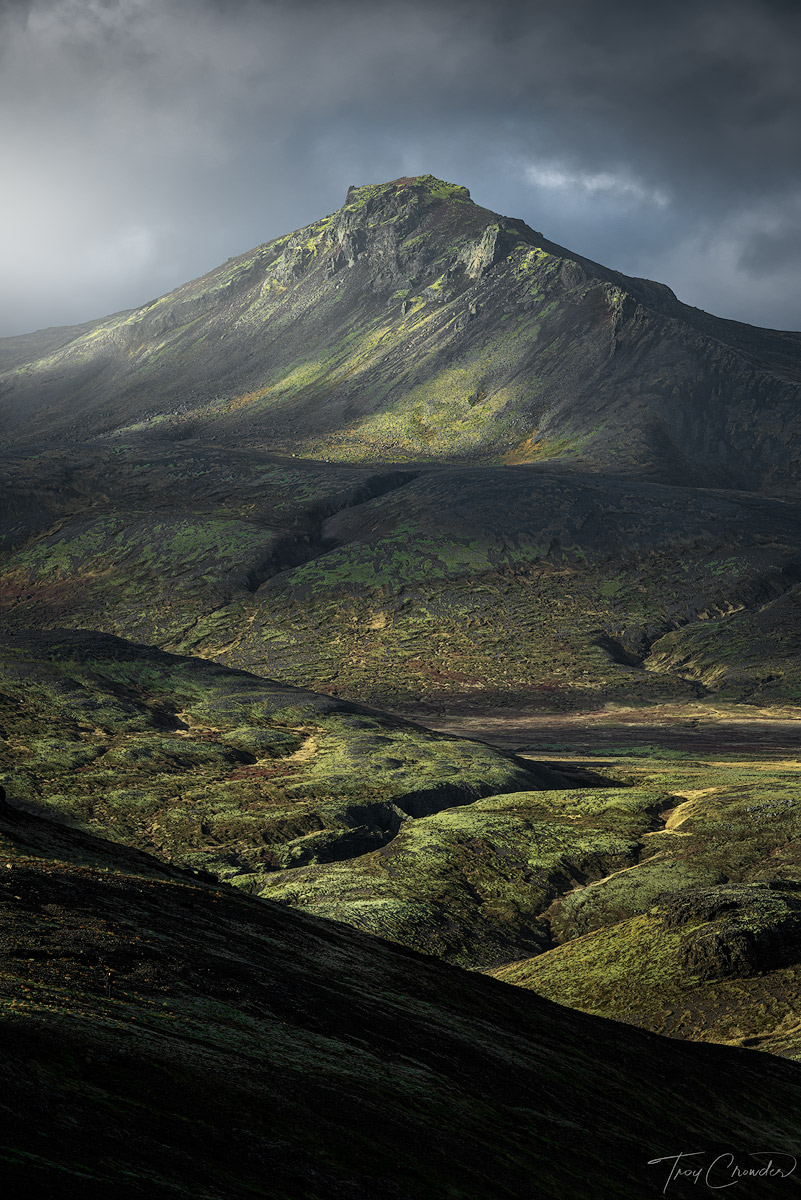Iceland, green, mountain, western iceland, photo