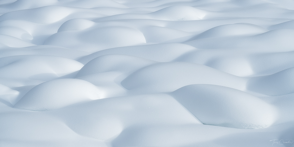 The most pristine collection of snow pillows I have ever laid my eyes on.