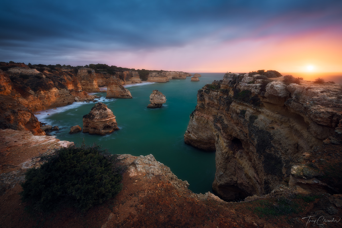 Praia da Marinha, Algarve, Portugal, ocean, seascape, seastack, sea, Mediterranean, photo